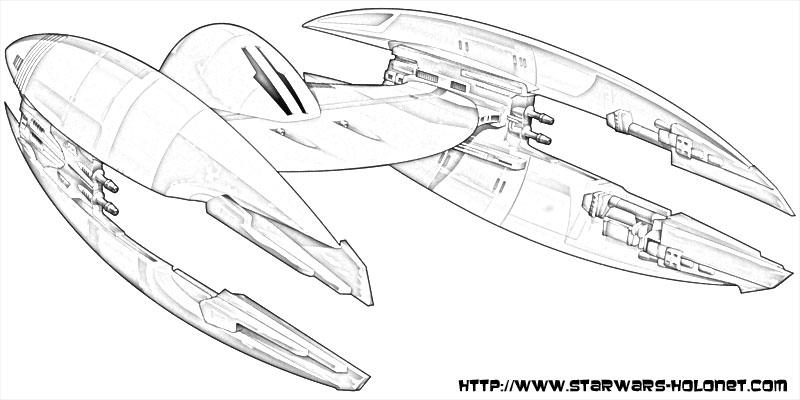 Coloriage star wars vaisseau sketch coloring page - Vaisseau star wars coloriage ...