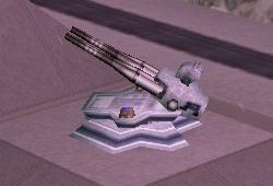 Plate-forme d'artillerie fixe