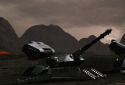 Plate-forme d'artillerie mobile