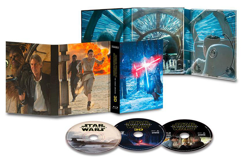Blu Ray 3D Star Wars The Force Awakens France