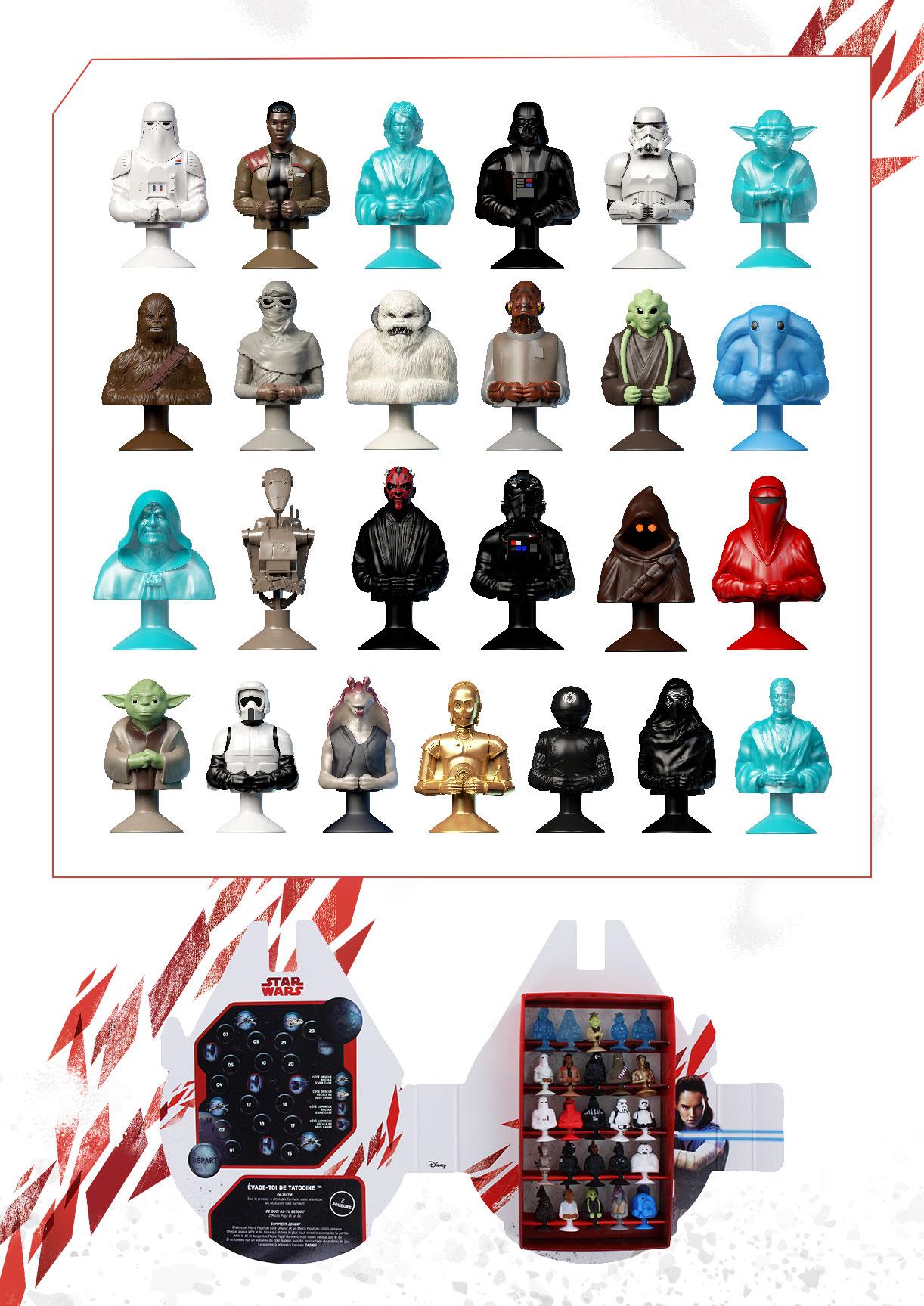 des figurines micropopz star wars retrouver chez leclerc star wars holonet. Black Bedroom Furniture Sets. Home Design Ideas