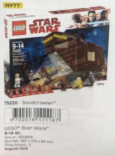 lego star wars visuels exclusifs des nouveaut s et 2018 star wars holonet. Black Bedroom Furniture Sets. Home Design Ideas